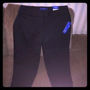 NEW Apt. 9 Torie Black Capri Pants Size 8 Petite